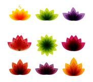 Flower symbol icon design vector lotus, logo, beauty, spa, lifestyle, care, relax, abstract Stock Images