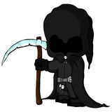 Isolated vector illustration of а grim Reaper. Vector illustration of а grim Reaper Stock Image