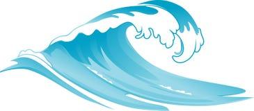 Rushing Wave royalty free illustration