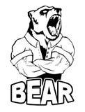 Isolated vector illustration a strong wild bear- man. Logo stock illustration