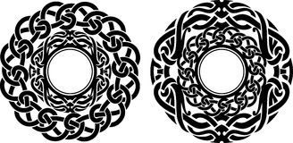 Abstract Round Ornate Pair Royalty Free Stock Images