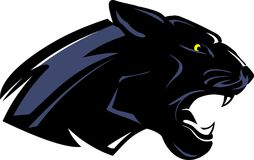 Black Panther Side View Royalty Free Stock Photo