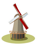 Isolated vector Wind mill. Illustration Royalty Free Stock Image