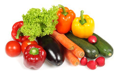 Isolated vegetables Royalty Free Stock Photos