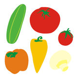 Isolated vegetables. Vector illustration of isolated vegetables Stock Photos