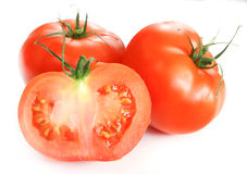 Isolated vegetables - Tomatoes Royalty Free Stock Photos