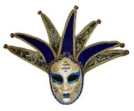 Isolated Venetian mask on a white background stock images