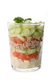 Isolated verrine of vegetable Royalty Free Stock Photo