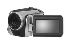 Isolated video camera  Stock Image