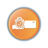 Isolated videocamera device design. Videocamera device icon. Cinema movie video film and media theme. Isolated design. Vector illustration Royalty Free Stock Images