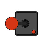 Isolated videogame joystick design Stock Photos