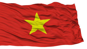 Isolated Vietnam Flag. Waving on White Background, High Resolution stock photos