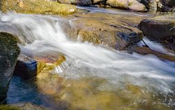 An Isolated view of Roaring Run Creek. An isolated ground level view of Roaring Run Creek located in the Jefferson Nation Forest, Virginia, USA royalty free stock photography