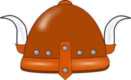 Isolated viking helmet with horns Royalty Free Stock Images