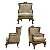 Isolated vintage armchair Royalty Free Stock Images