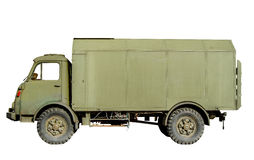 Isolated Vintage Army Truck Stock Photo