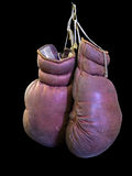 Isolated Vintage Boxing Gloves Royalty Free Stock Image