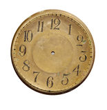 Isolated vintage brass clock-face Stock Photos
