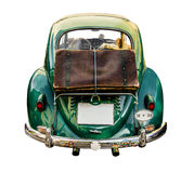 Isolated Vintage Car With Suitcase Stock Photo