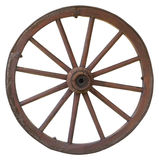 Isolated vintage carriage wheel. On a white background Royalty Free Stock Photos