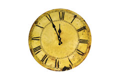 Isolated vintage clock Royalty Free Stock Photo