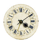 Isolated  vintage clock-face Royalty Free Stock Image