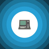 Isolated Vintage Computing Flat Icon. Technology Vector Element Can Be Used For Vintage, Retro, Computer Design Concept. Royalty Free Stock Photo