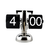 Isolated vintage flip clock at four o`clock Royalty Free Stock Images
