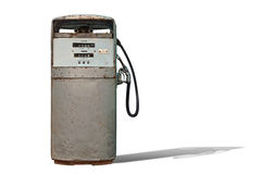 Isolated Vintage Gas Station. Horizontal Royalty Free Stock Photo