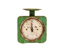 Isolated vintage and grunge scale Royalty Free Stock Photography