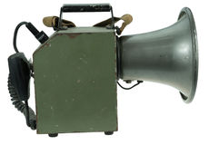 Isolated vintage megaphone. Around world war 2 Stock Photo