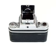 Isolated vintage middle format camera - back view Royalty Free Stock Photos