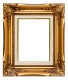 Isolated vintage photo frame. Isolated luxury gold vintage photo frame stock image