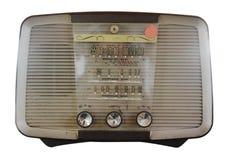 Isolated Vintage Radio Stock Photo