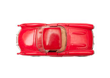 Isolated vintage red muscle car Stock Image