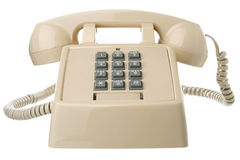 Isolated vintage telephone Stock Photo