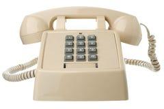 Isolated vintage telephone stock photo