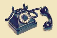 Isolated Vintage Telephone stock photos