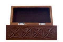 Isolated vintage treasure box. Vintage treasure box waiting to be filled again Stock Image
