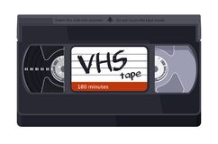 Free Isolated Vintage VHS Tape. Vector Colored Illustration On Light Background. Original Retro Object.  Stock Image - 119438781