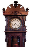 Isolated Vintage Wood Clock Royalty Free Stock Images