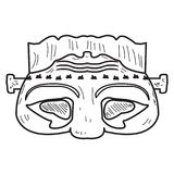 Halloween zombie mask vector illustration