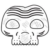 Vintage zombie mask stock illustration