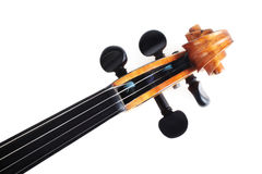 Isolated violin scroll Stock Photo