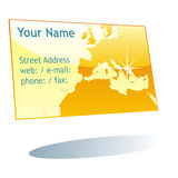 Isolated visit card Stock Photography