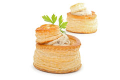 Isolated vol au vent Stock Images