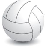 Isolated volleyball. Isolated picture of a volleyball Stock Photography