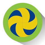 Isolated volleyball ball Stock Photo