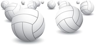 Isolated volleyballs Royalty Free Stock Images