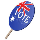 Isolated voting paddle. With a flag of Australia,  illustration Royalty Free Stock Photos